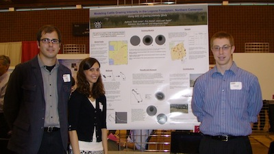 Eric Soma. Leah Taylor and Todd Juran at the Denman Undergraduate Research Forum.