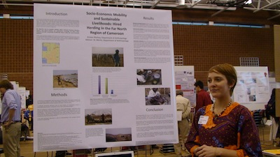 Kristen Ritchey at the Denman Undergraduate Research Forum.
